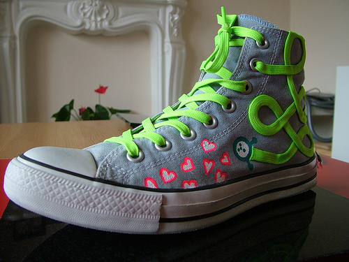 Flat Neon Green Laces